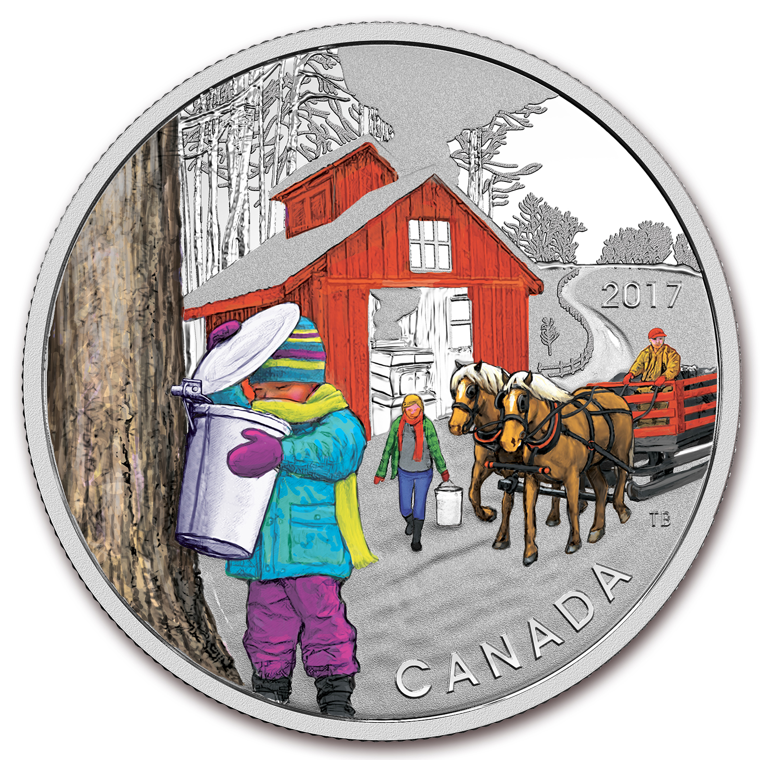 2017 Canada 1/2 oz Silver $10 The Sugar Shack Proof