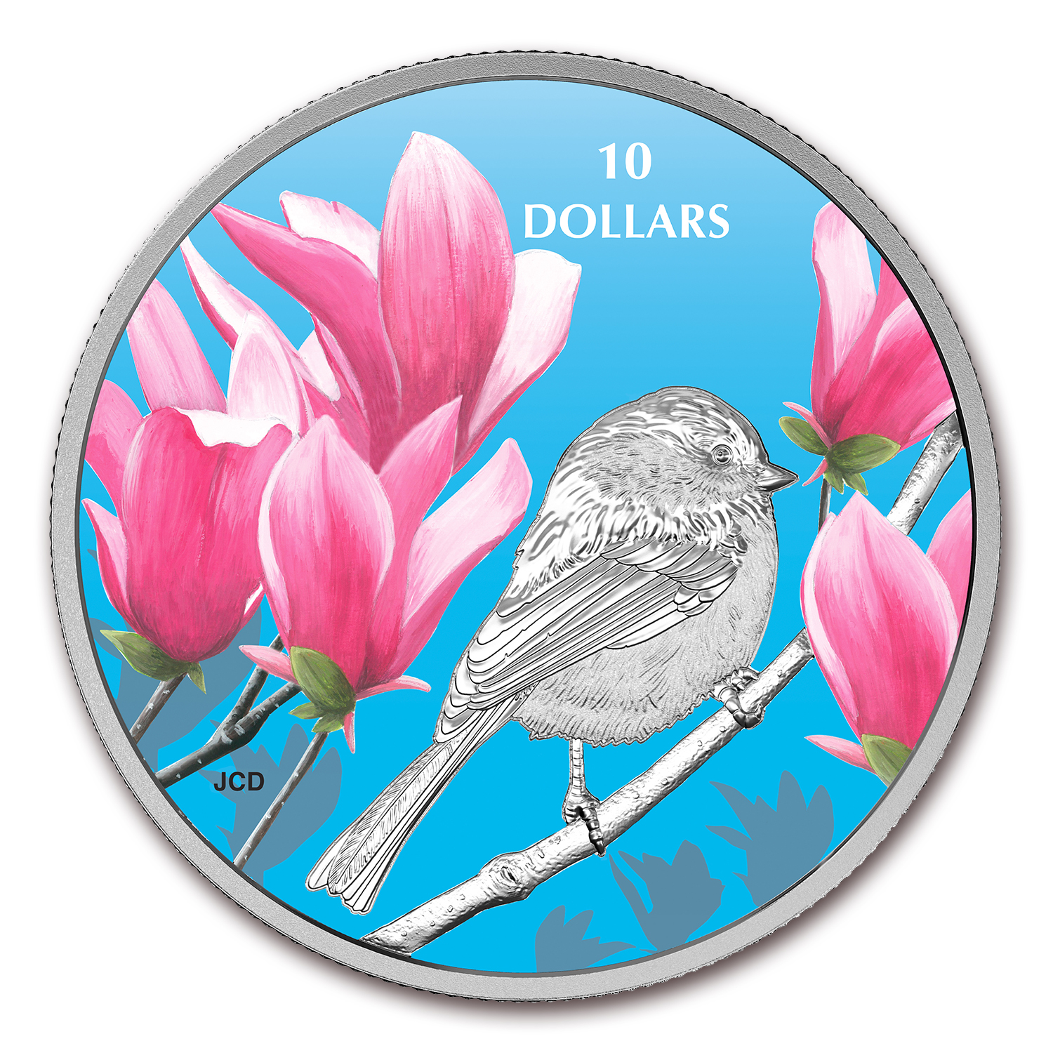 2017 Canada 1/2 oz Ag $10 Birds Among Nature's Colors: Chickadee
