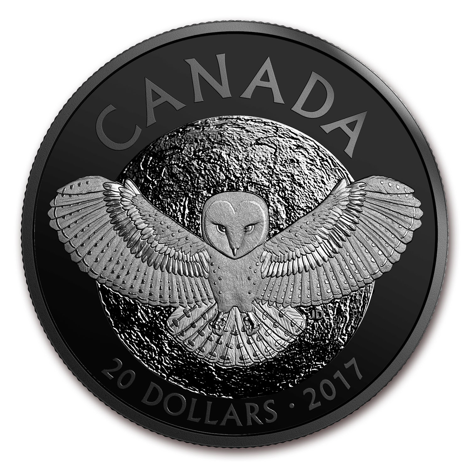 2017 Canada 1 oz Silver $20 Nocturnal By Nature: The Barn Owl