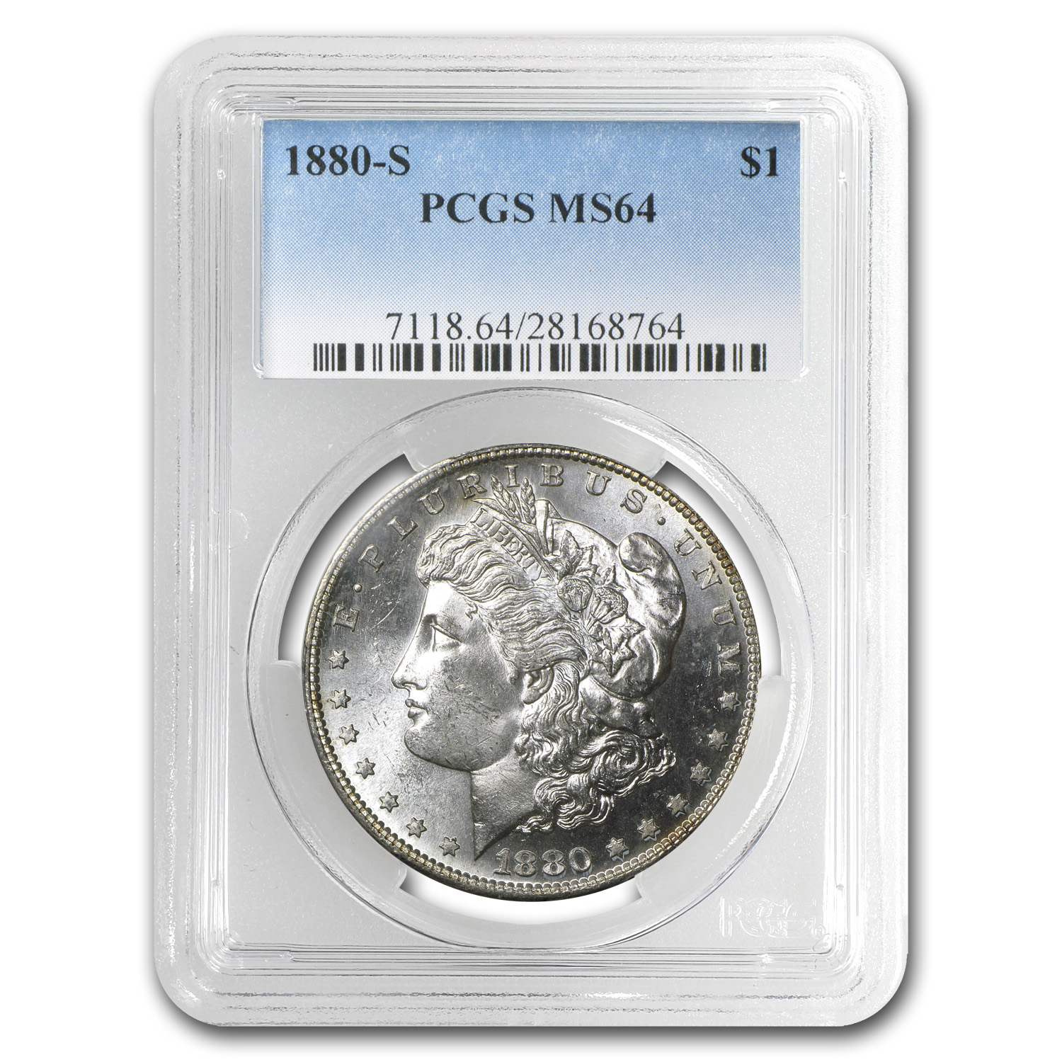 1880-S Morgan Dollar - MS-64 PCGS