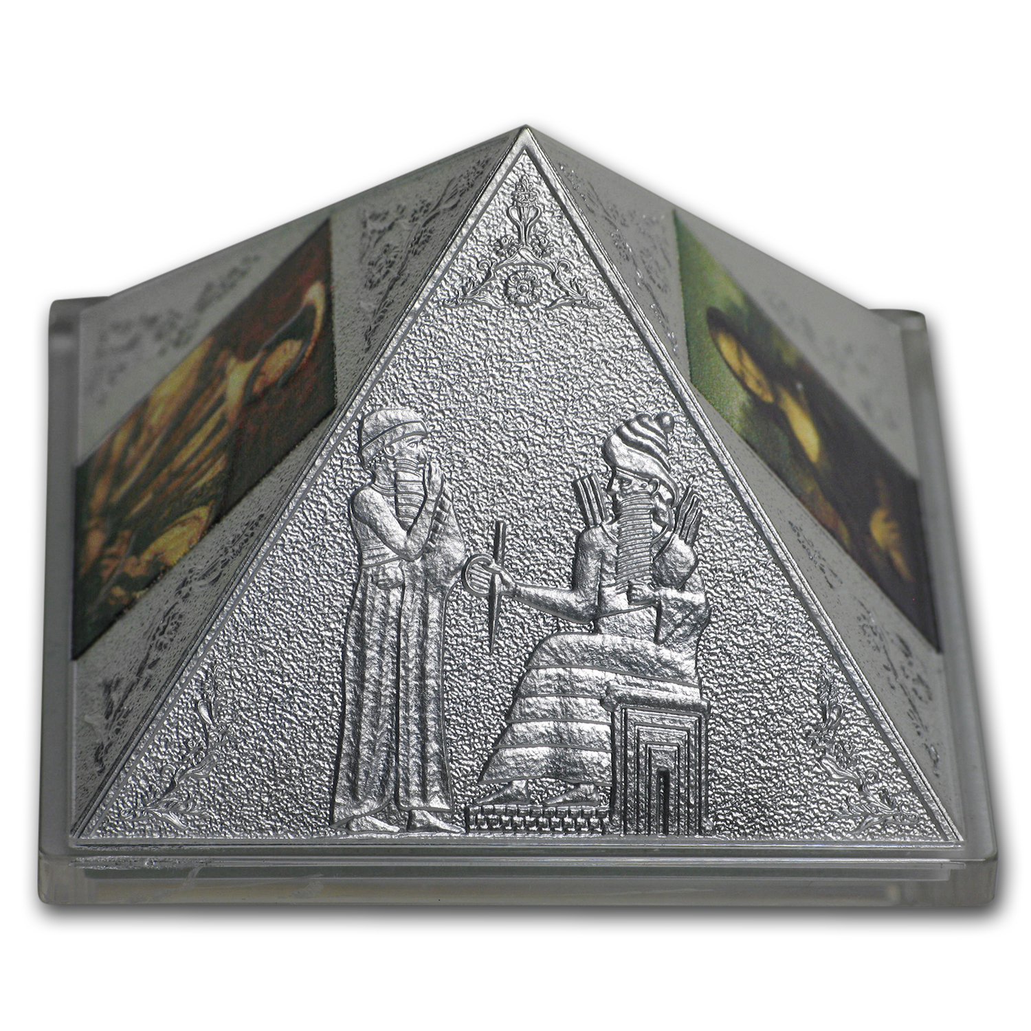 2016 Niue 3 oz Silver Temple of Art Proof (Pyramid Coin)