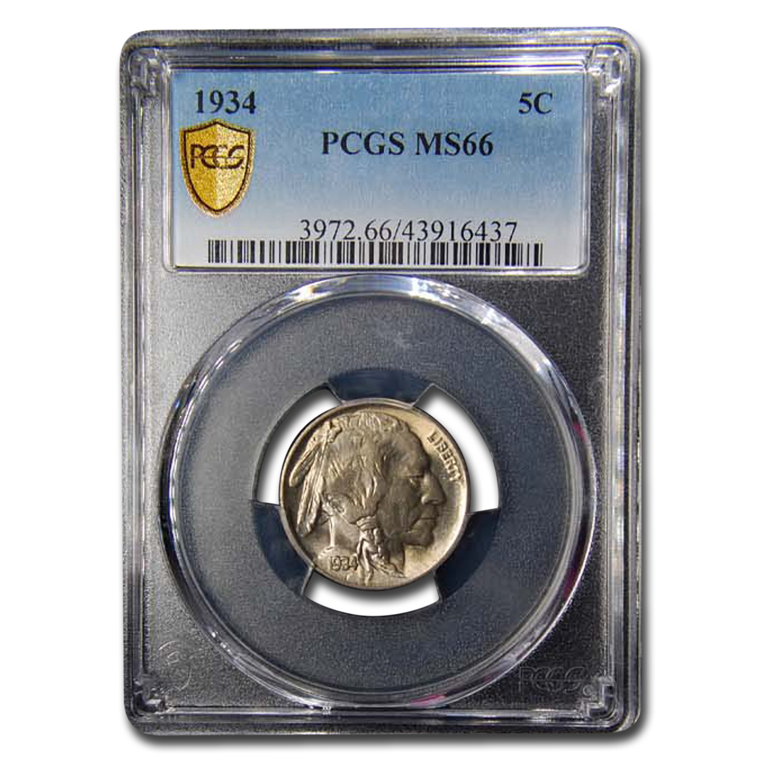 1934 Buffalo Nickel MS-66 PCGS