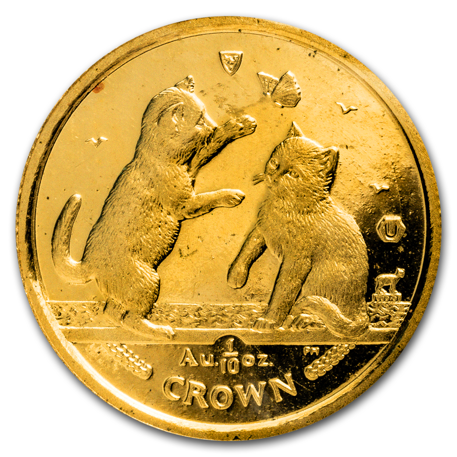 2004 Isle of Man 1/10 oz Gold Tonkinese Cat BU