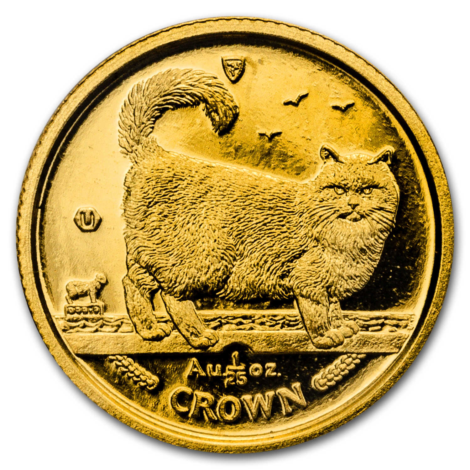 1998 Isle of Man 1/25 oz Gold Birman Cat