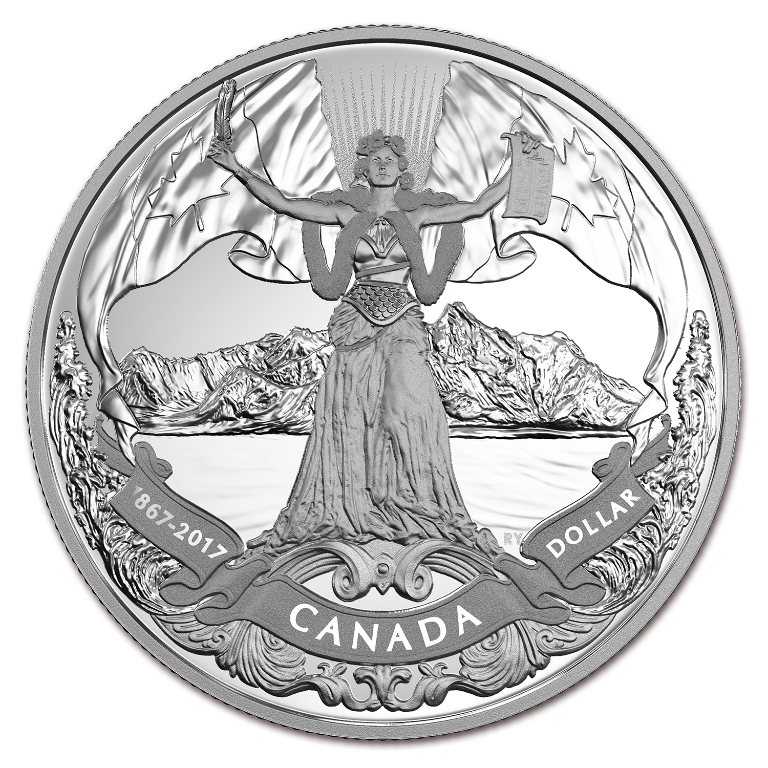 2017 Canada Proof Silver Dollar 150th of Canadian Confederation