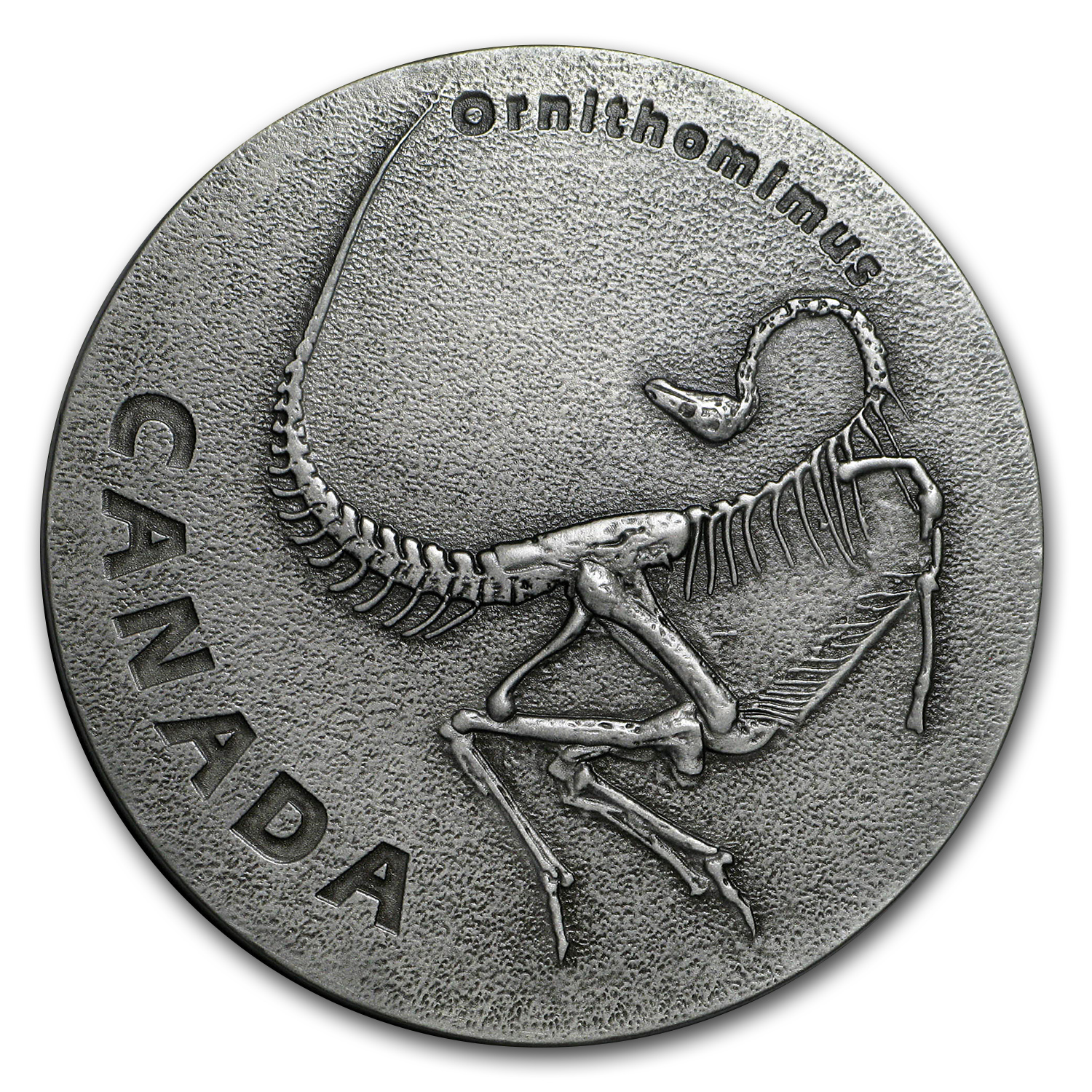 2017 Canada 1 oz Ag Ancient Canada: Ornithomimus (Antique Finish)