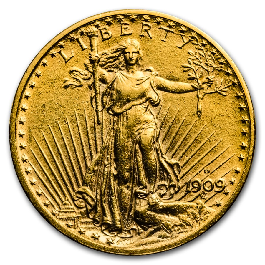 1909 d 20 st gaudens gold double eagle au details cleaned 20 double eagles saint gaudens. Black Bedroom Furniture Sets. Home Design Ideas