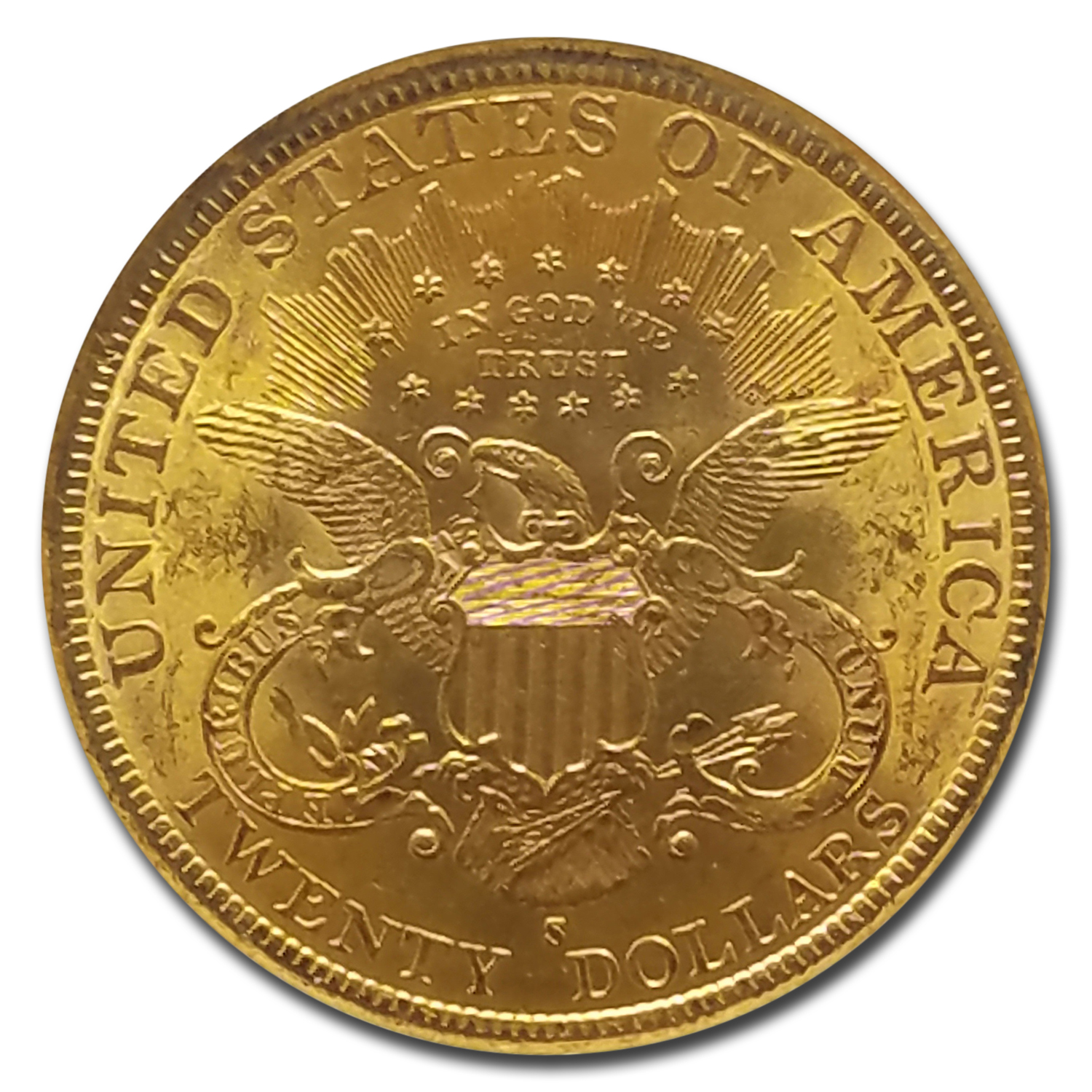 1896-S $20 Liberty Gold Double Eagle MS-63 NGC