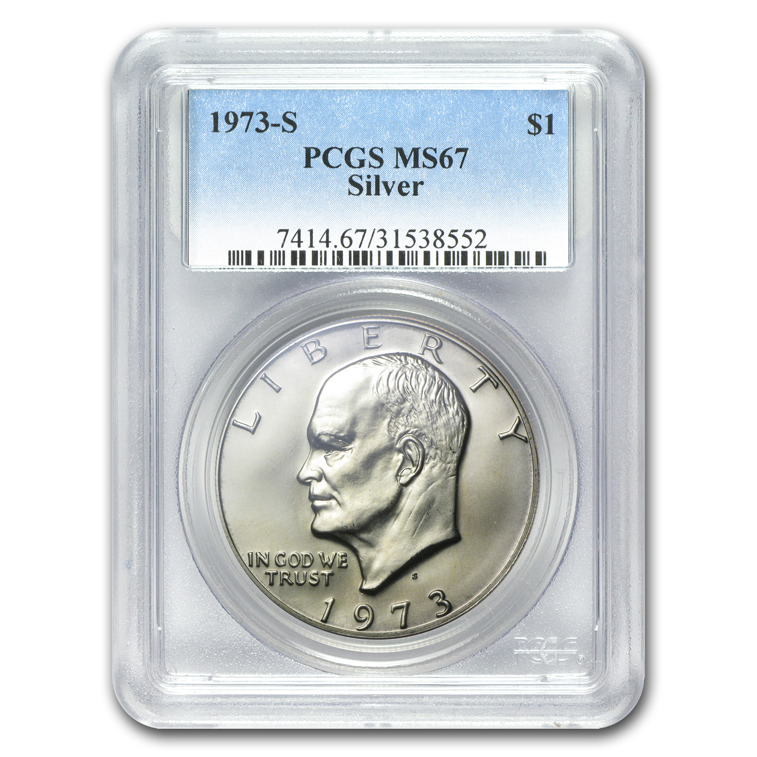 1973-S Eisenhower Silver Dollar MS-67 PCGS