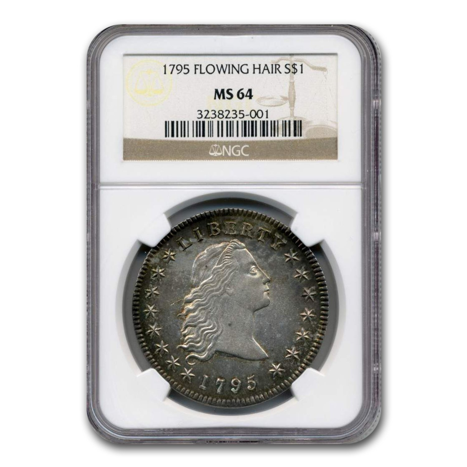 1795 Flowing Hair Dollar MS-64 NGC