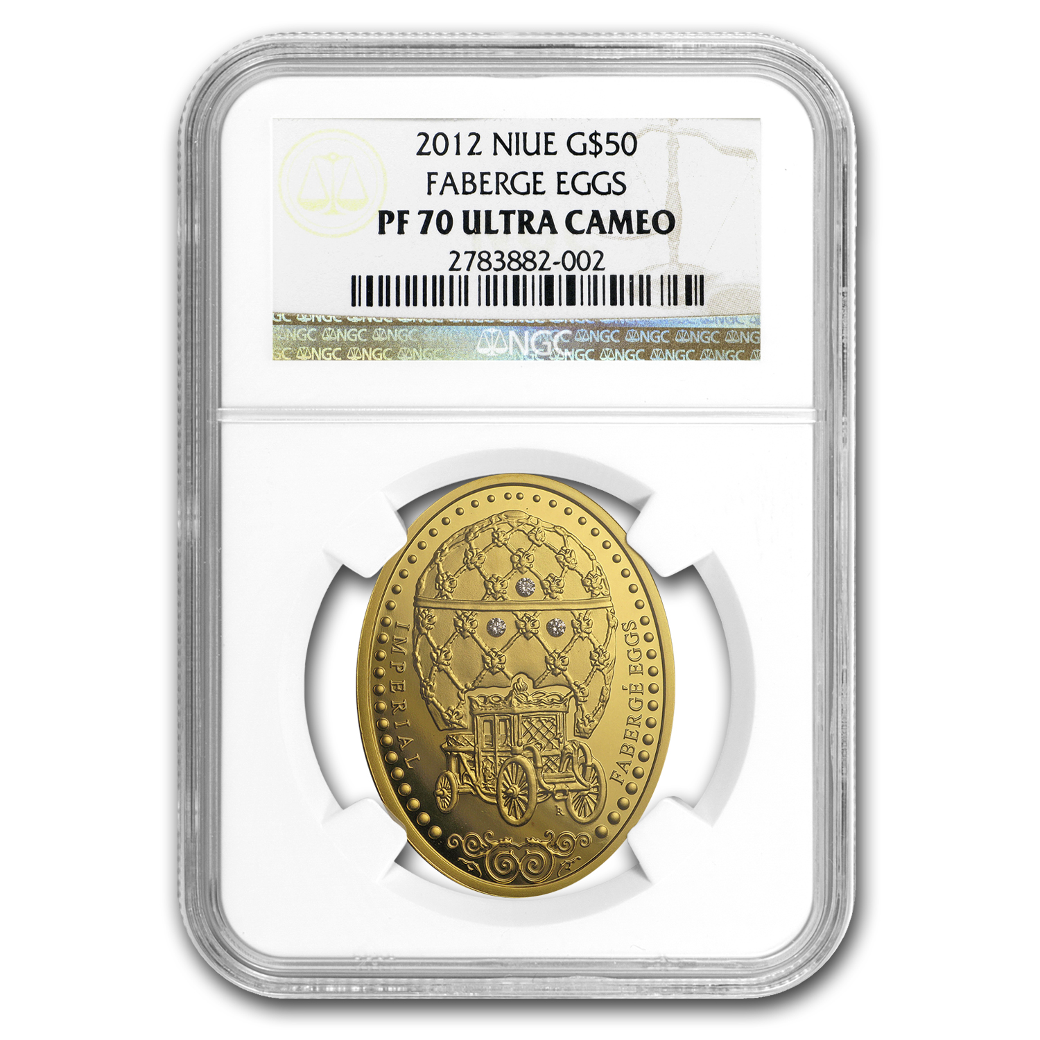 2012 Niue Proof Gold $50 Imperial Fabergé Egg PF-70 NGC