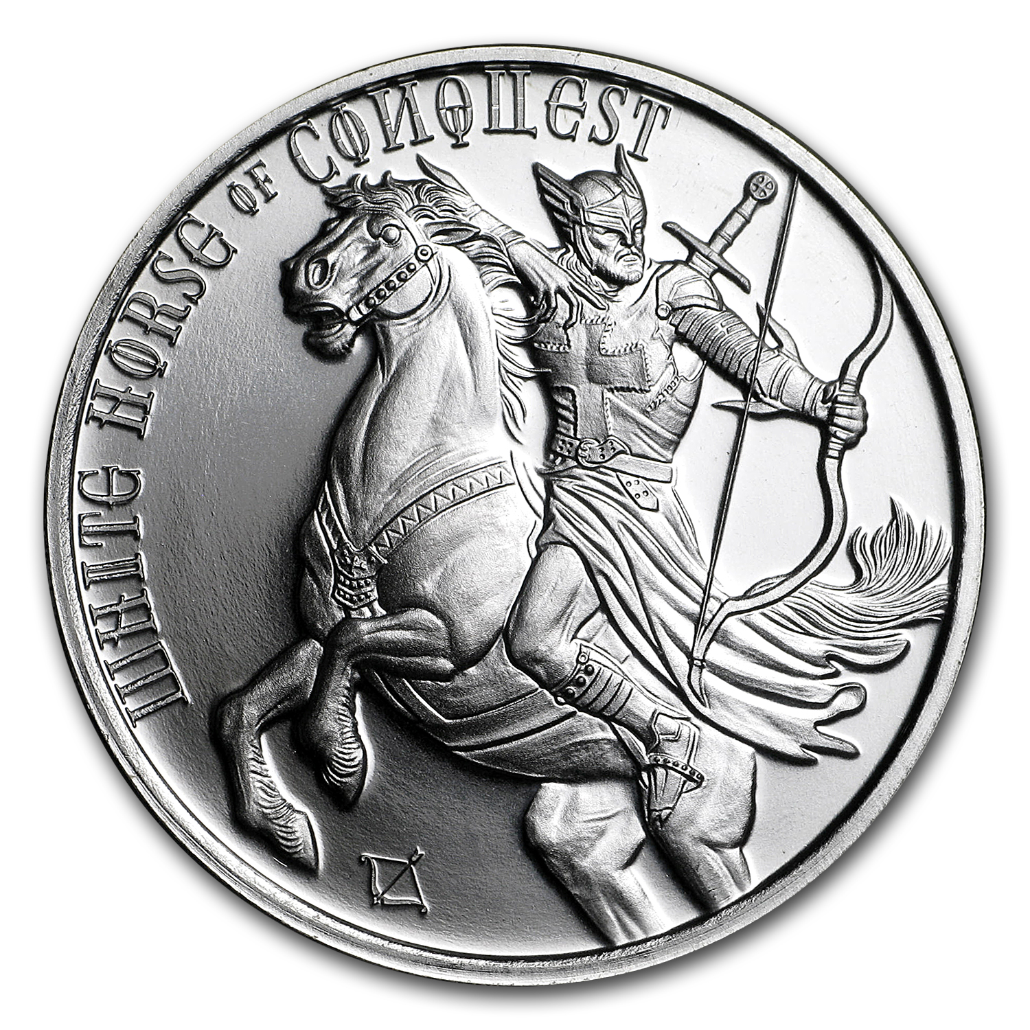 1 oz Silver Round - Four Horseman (White Horse of Conquest)