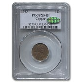 1943 Copper Lincoln Cent XF-45 PCGS CAC (Brown)
