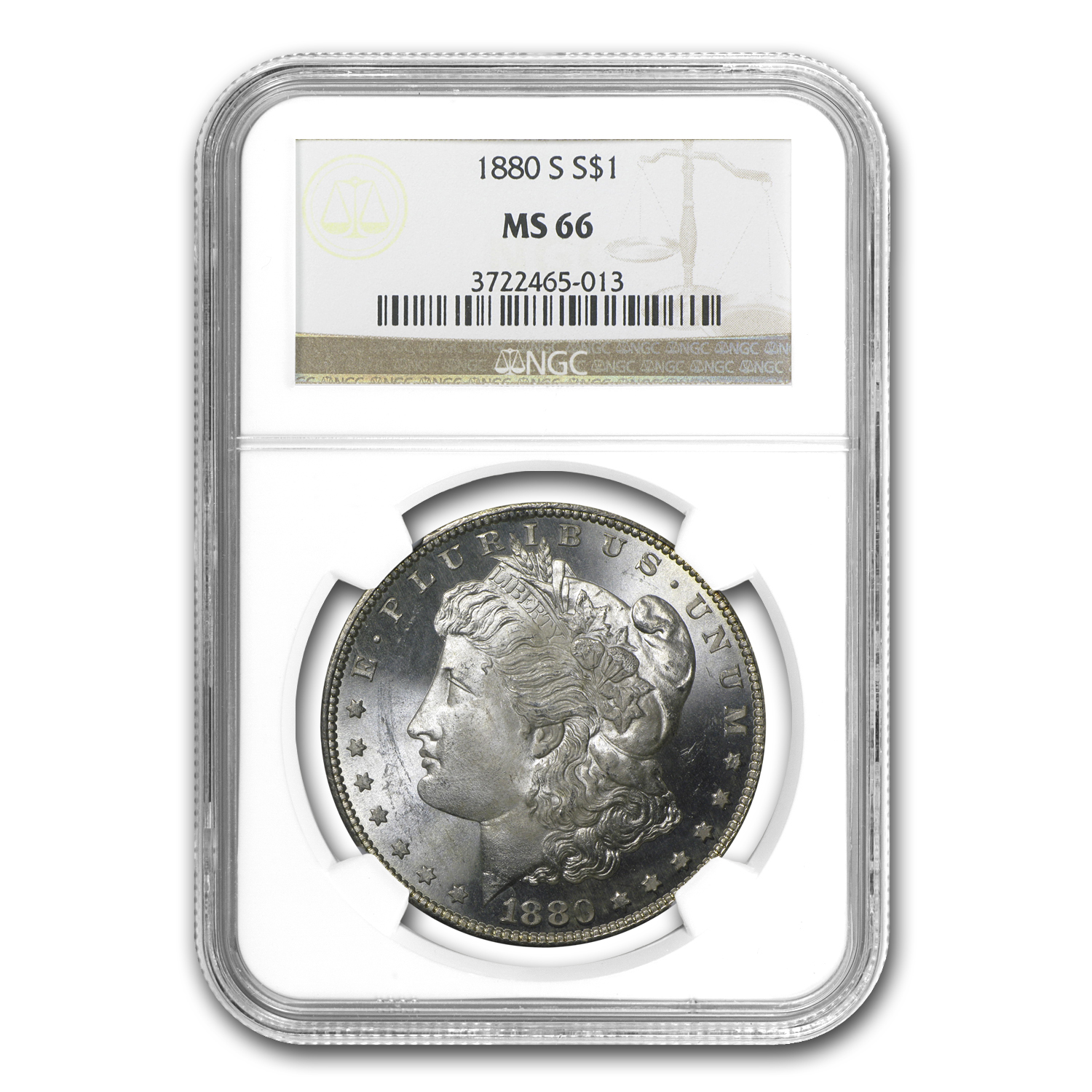 1880-S Morgan Dollar MS-66 NGC