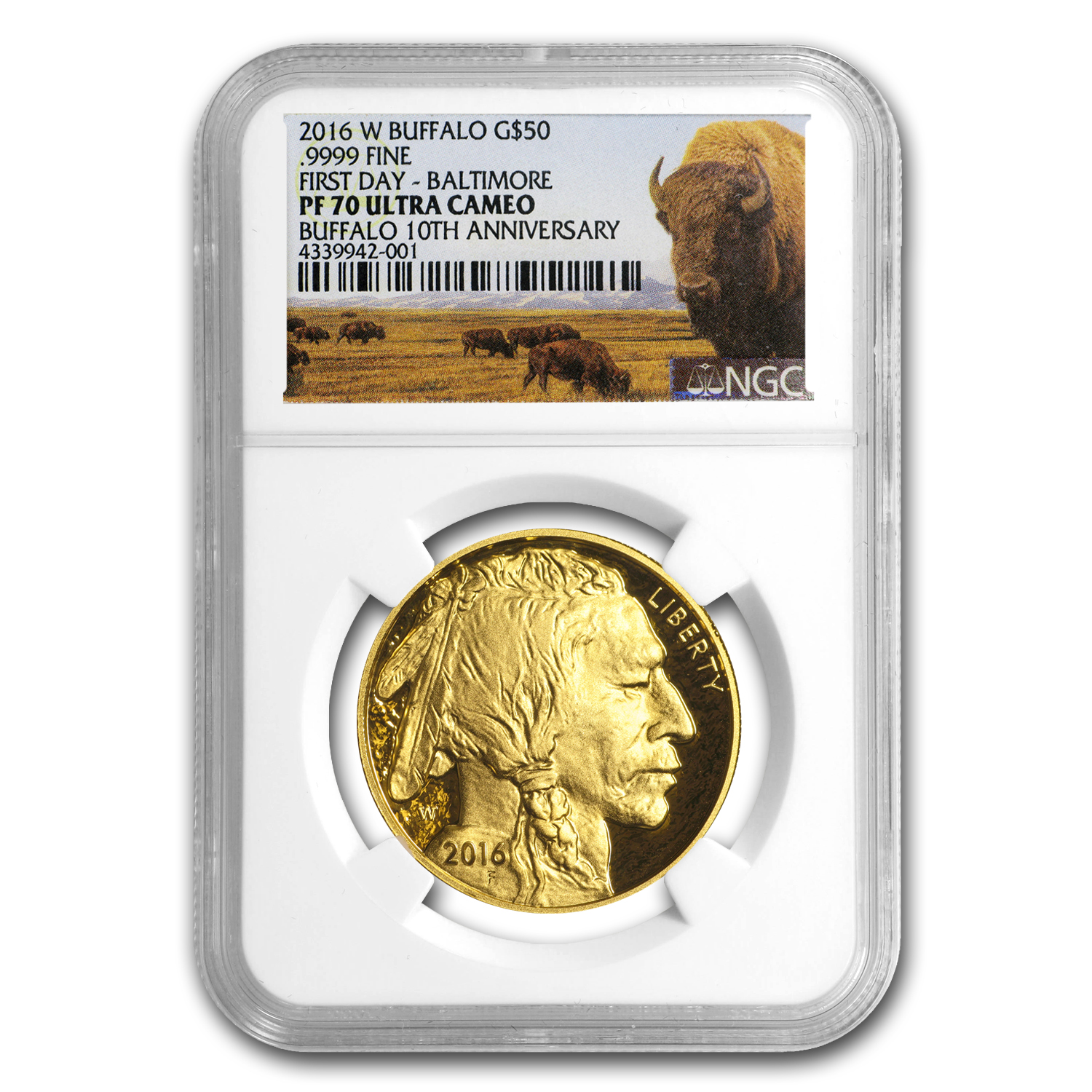 2016-W 1 oz Proof Gold Buffalo PF-70 NGC (FDI)