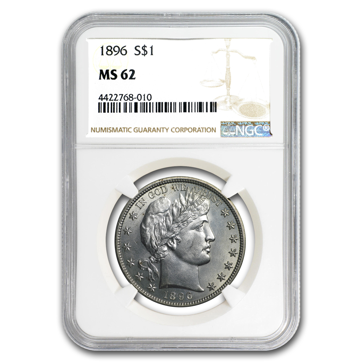 1896 Barber Half Dollar MS-62 NGC