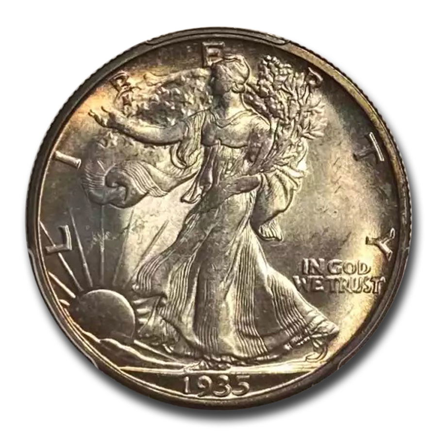 1935-S Walking Liberty Half Dollar MS-64 PCGS