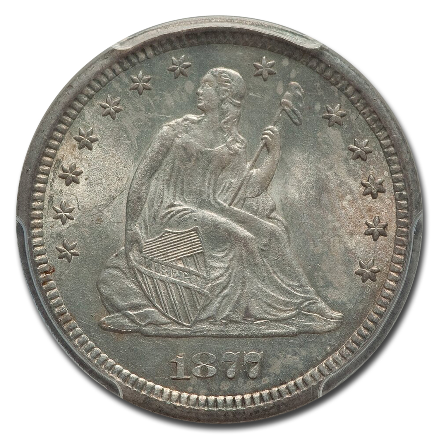 1877-CC Liberty Seated Quarter MS-65 PCGS