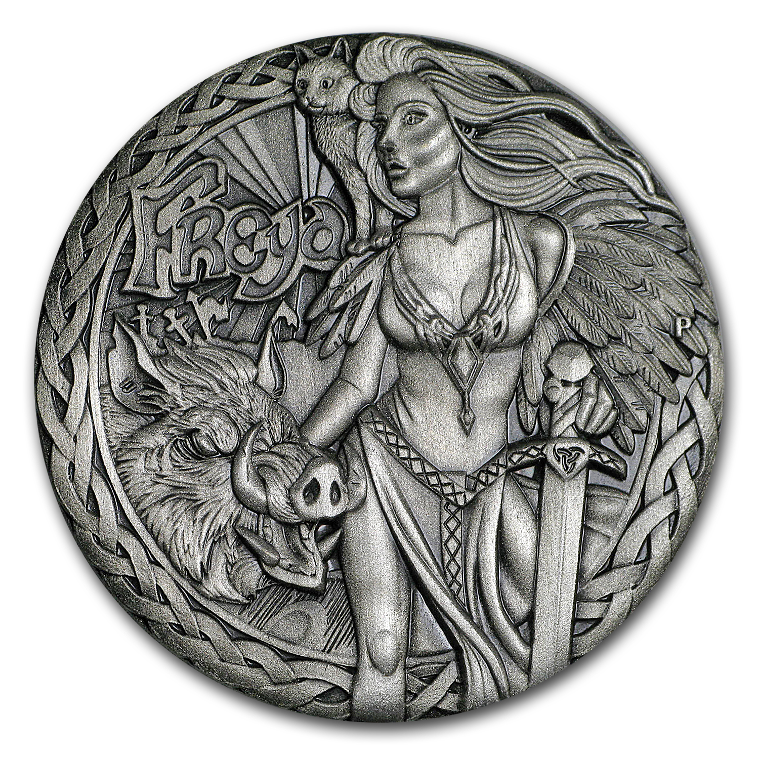 2017 Tuvalu 2 oz Silver Norse Goddesses: Freya (High Relief)