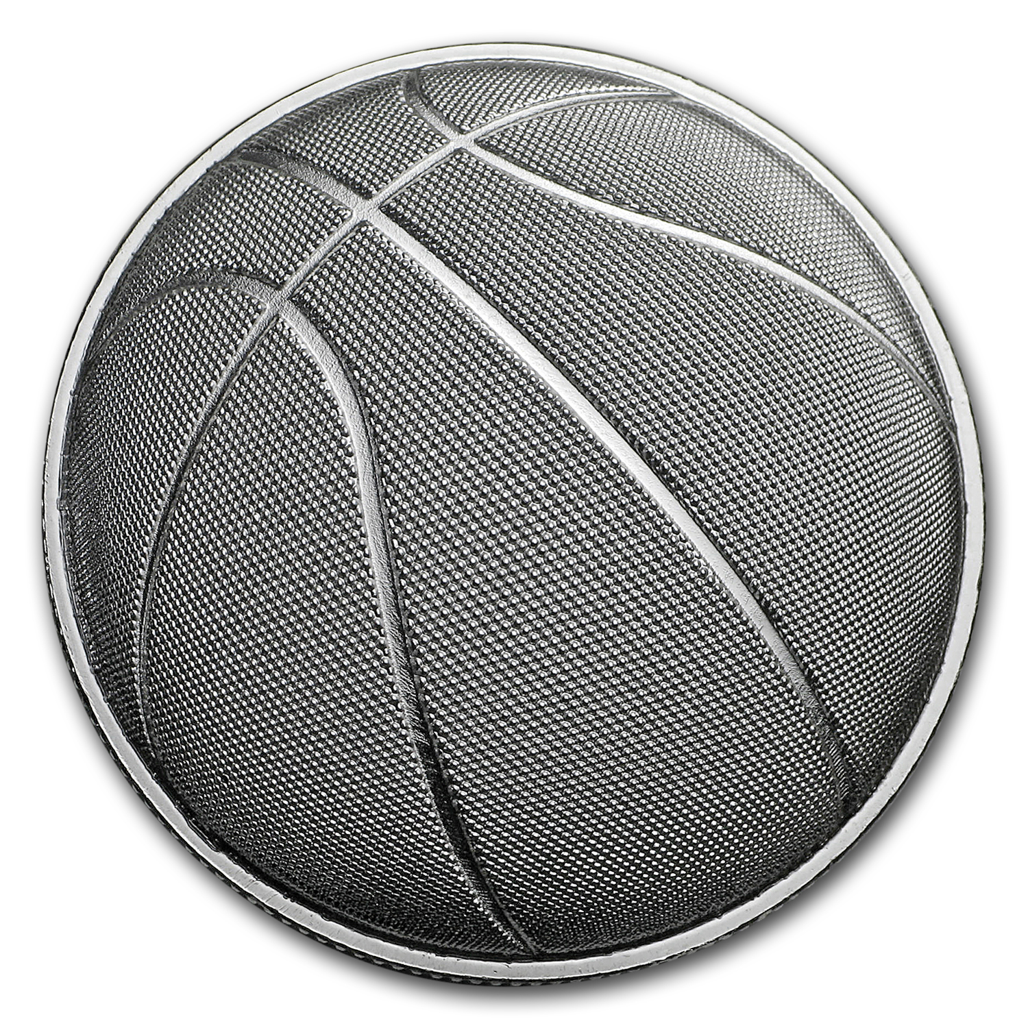 1 oz Silver Round - 2017 Domed Basketball