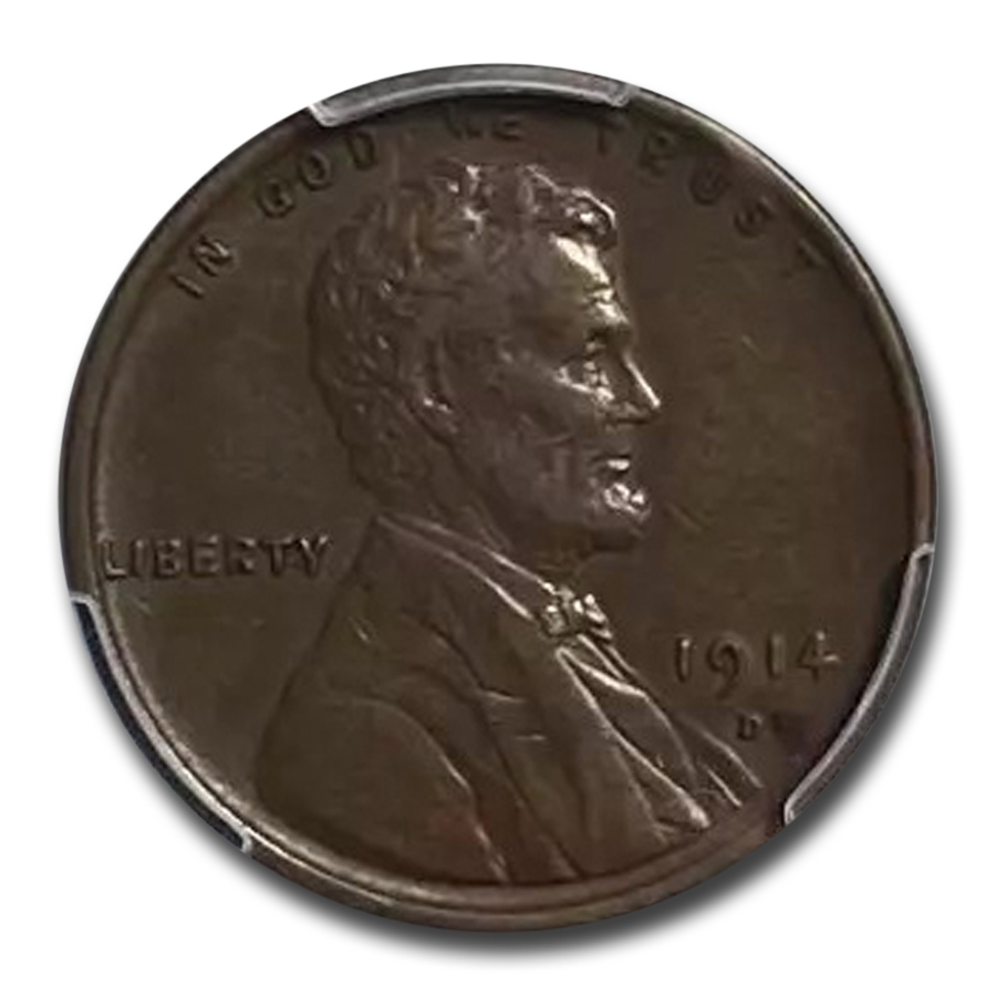 1914-D Lincoln Cent AU-50 PCGS (Brown)