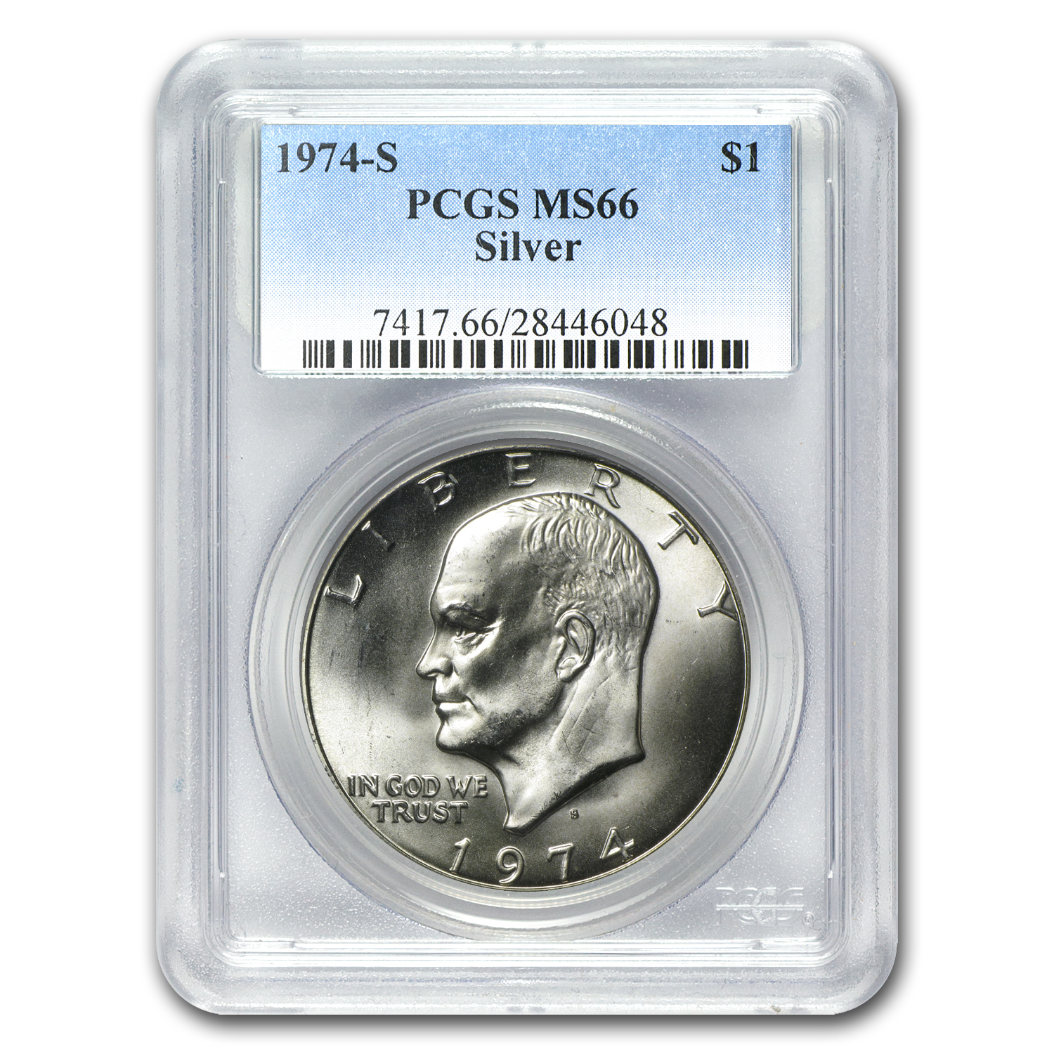 1974-S Silver Eisenhower Dollar MS-66 PCGS