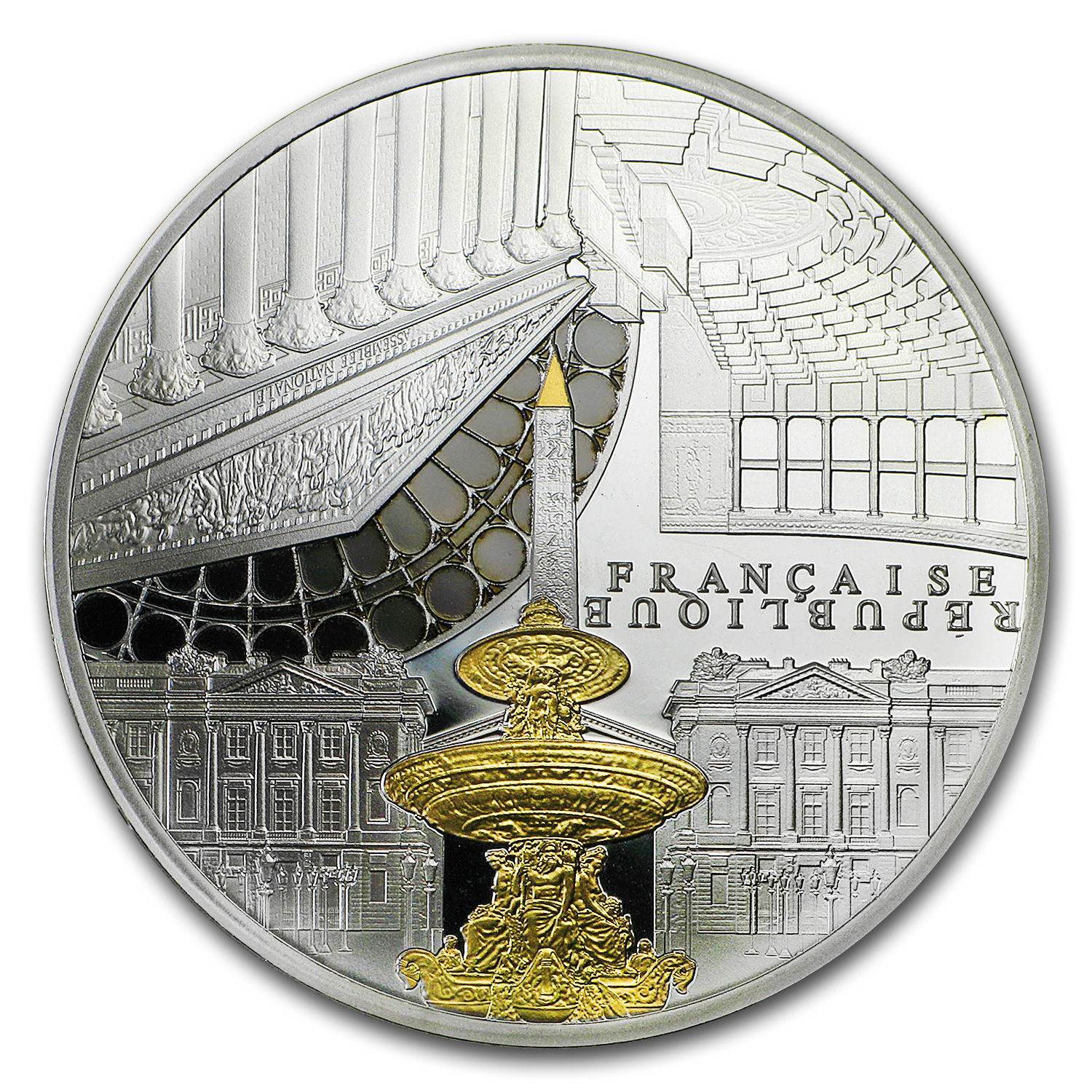 2017 France Silver €10 UNESCO (Concorde & Assemblée Nationale)