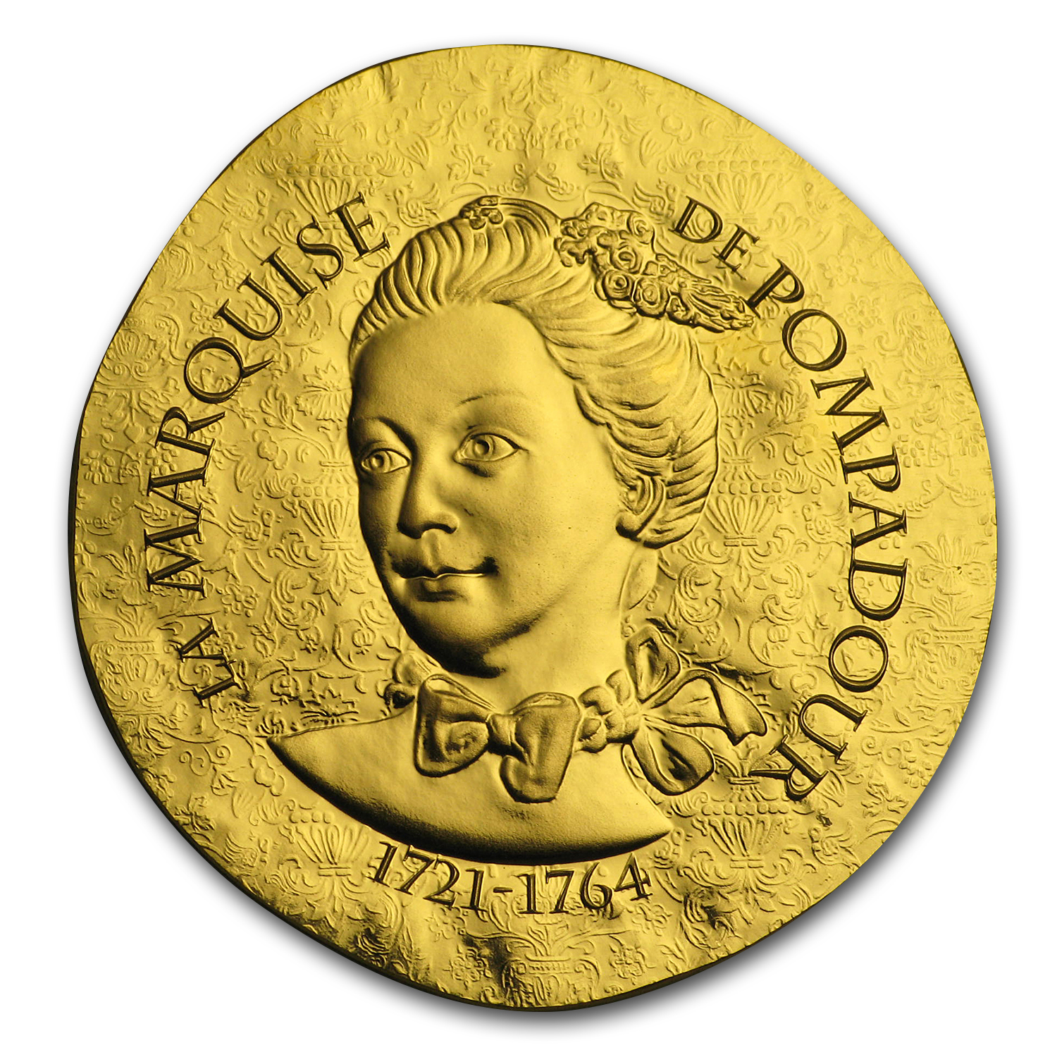 2017 1/4 oz Prf Gold €50 Women of France (Marquise de Pompadour)