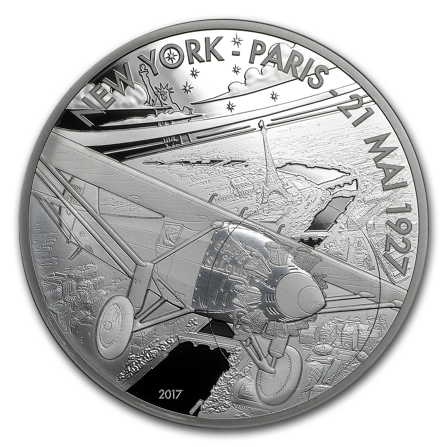 2017 5 oz Silver Aviation & History (Spirit of St. Louis)