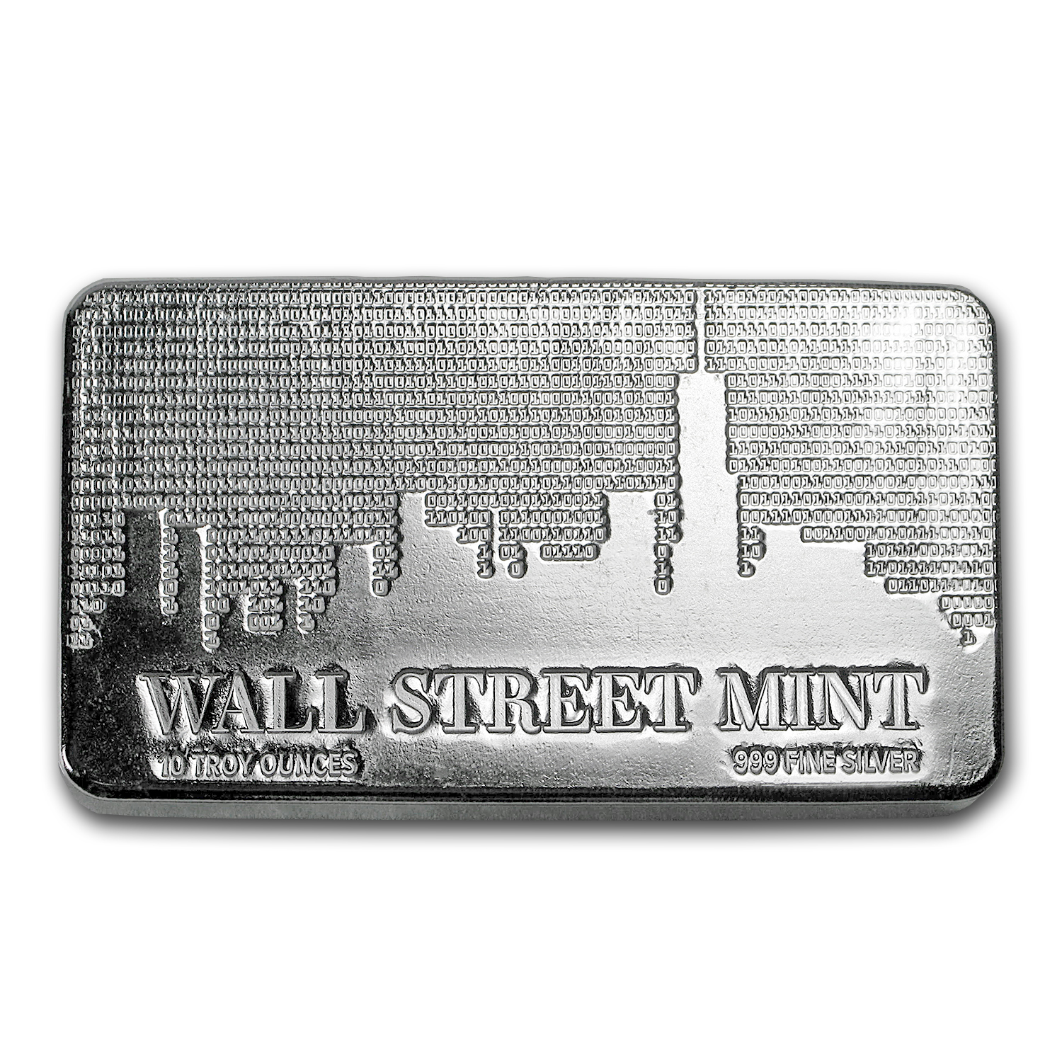 10 oz Silver Bar - Wall Street Mint®