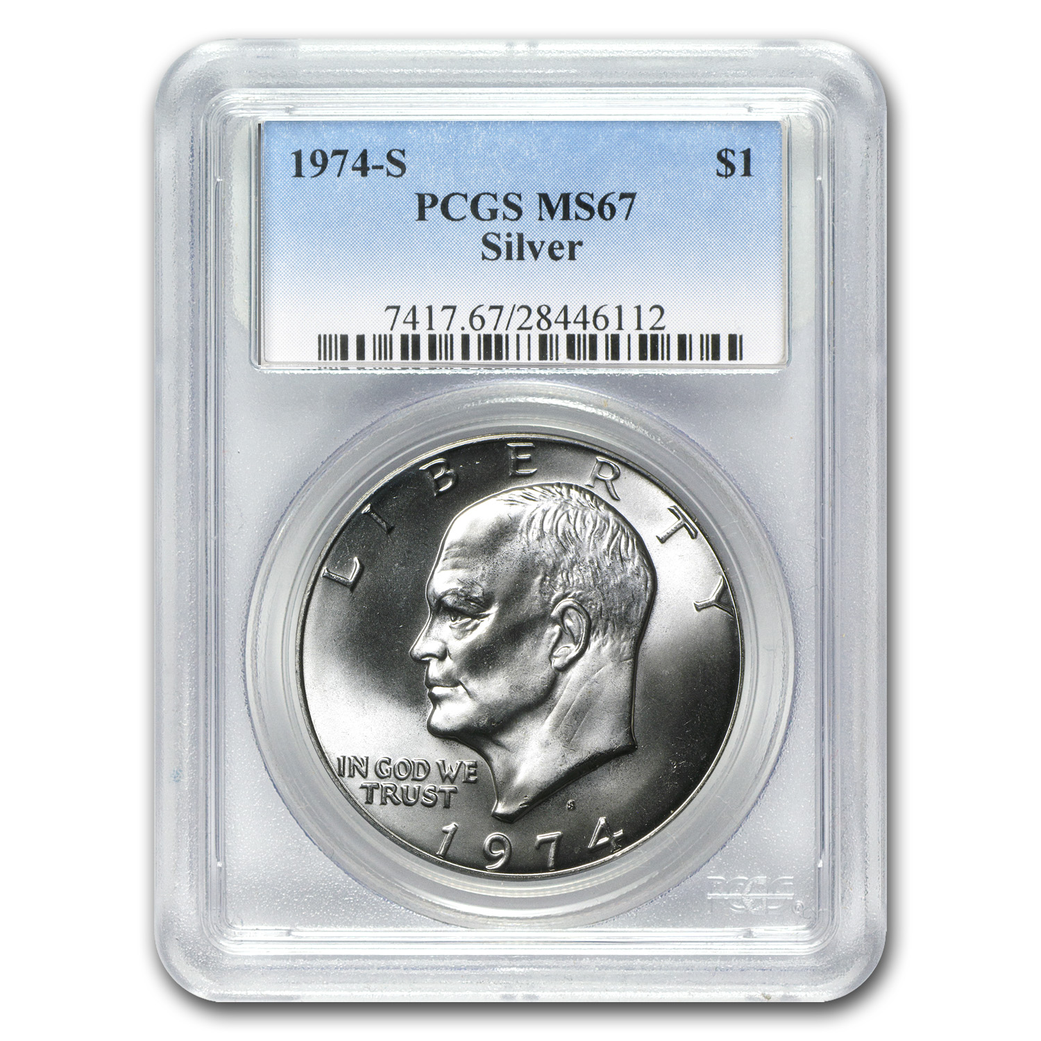 1974-S Eisenhower Silver Dollar MS-67 - PCGS
