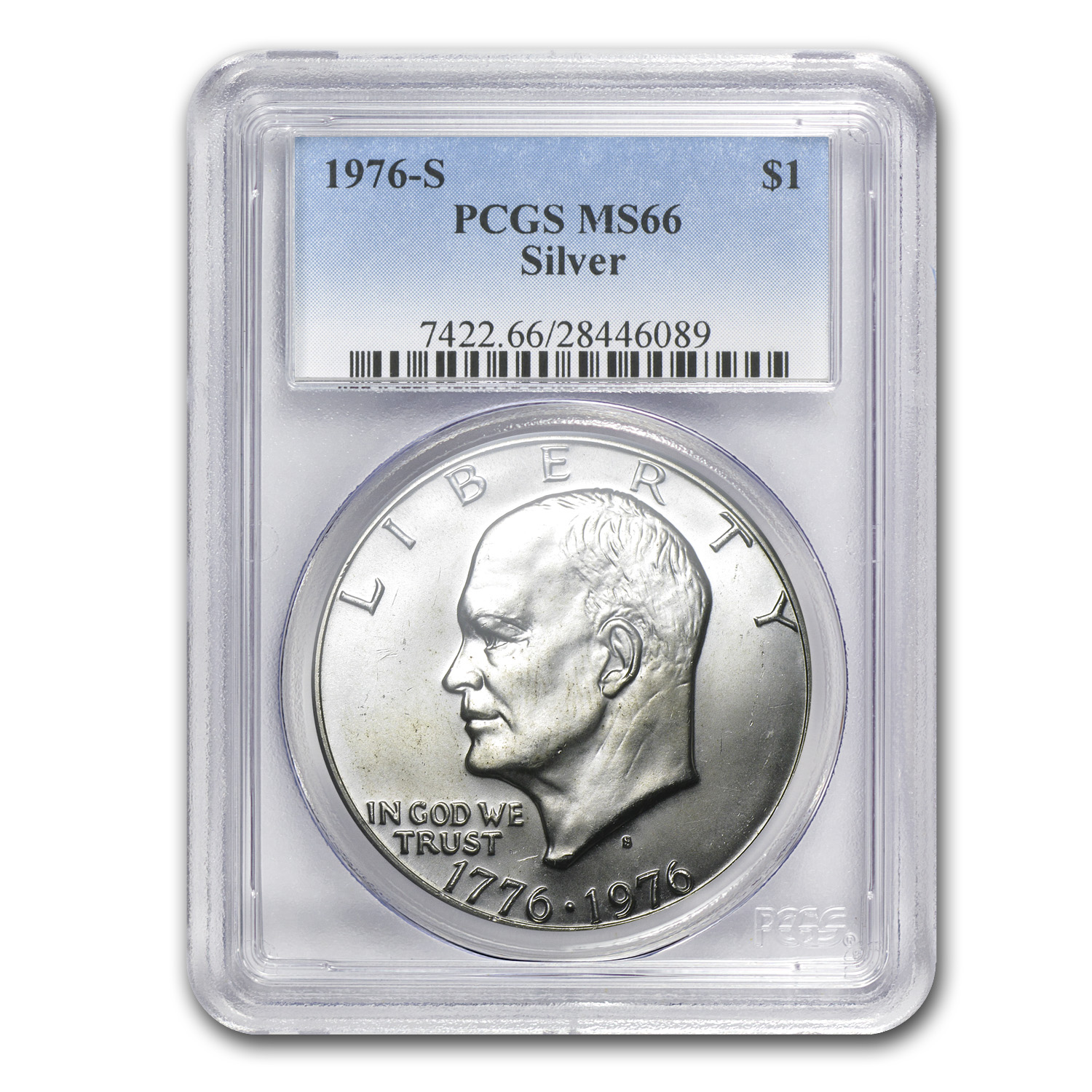 1976-S Silver Eisenhower Dollar MS-66 PCGS