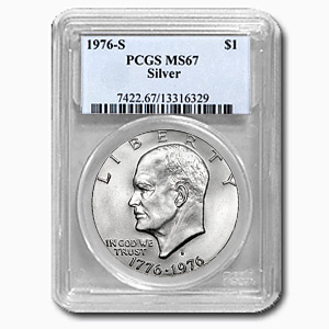 1976-S Silver Eisenhower Dollar MS-67 PCGS