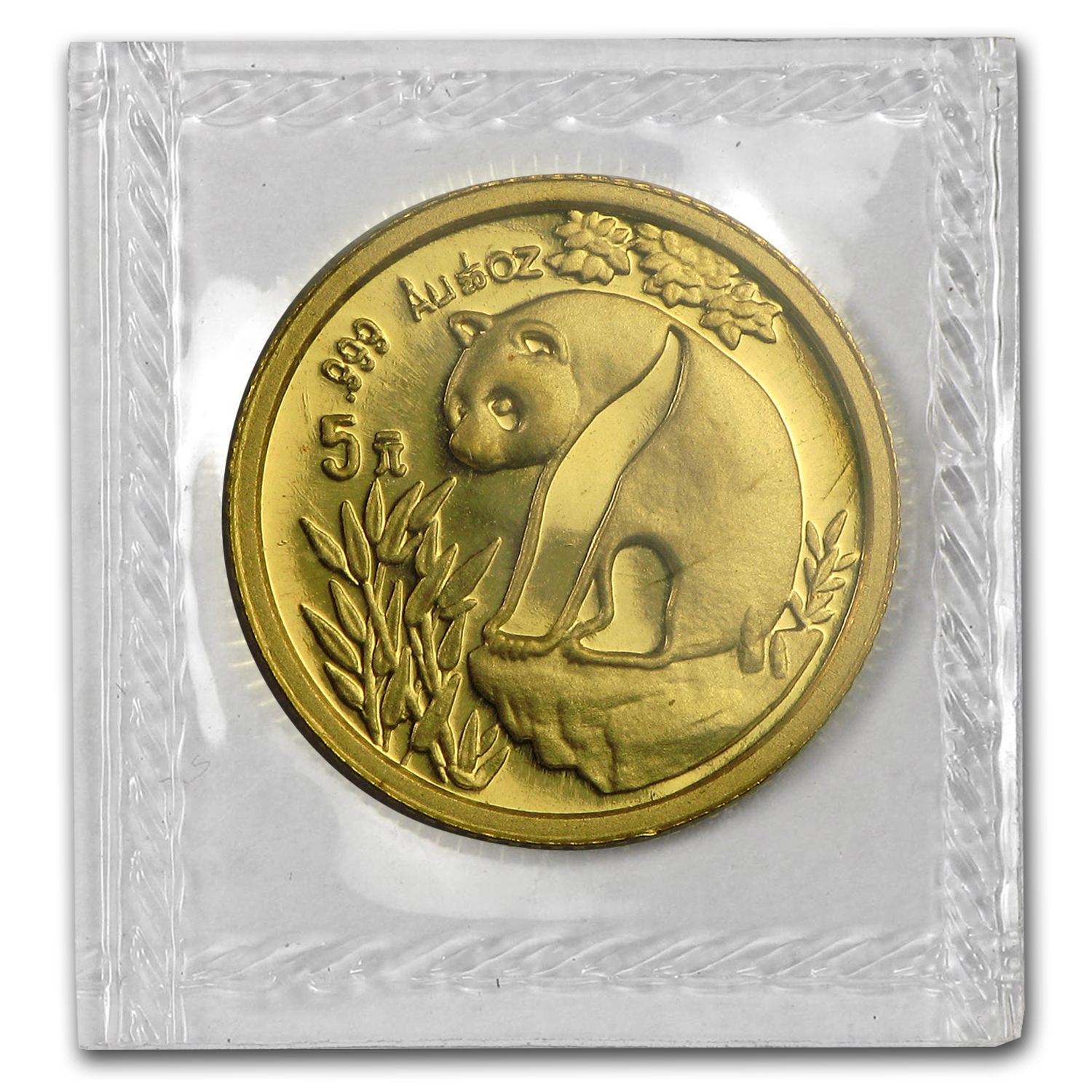 1993 1/20 oz Gold Chinese Panda Large Date BU (Sealed)
