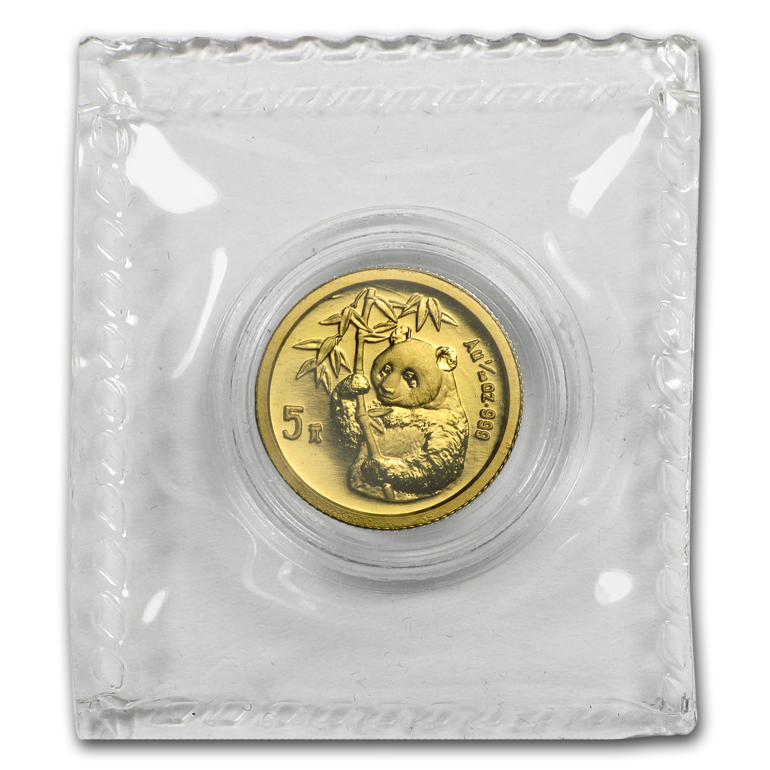 1995 China 1/20 oz Gold Panda Small Date BU (Sealed)