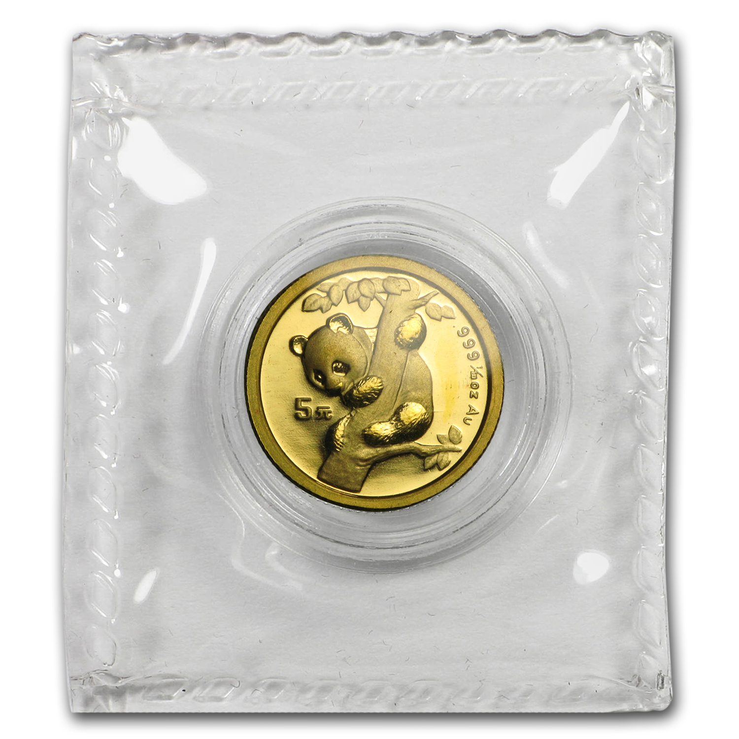 1996 (1/20 oz) Gold Chinese Pandas - Small Date (Sealed)