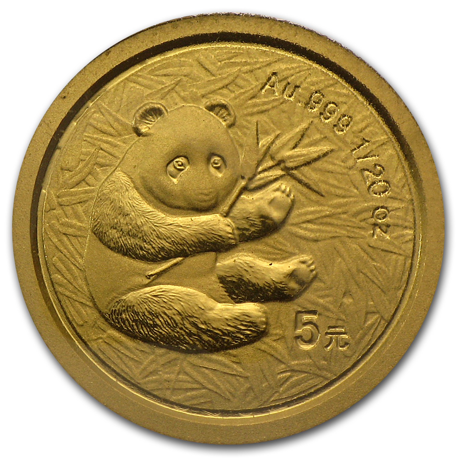 2000 1/20 oz Gold Chinese Panda Frosted BU (Sealed)