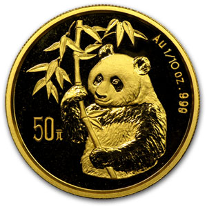 1995 (1/10 oz) Gold Chinese Panda - Small Date (Sealed)