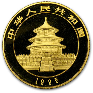 1995 China 1/10 oz Gold Panda Small Date BU (Sealed)