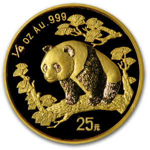 1997 China 1/4 oz Gold Panda Small Date BU (Sealed)