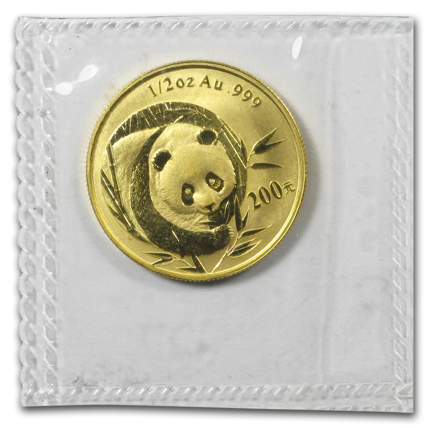 2003 1/2 oz Gold Chinese Panda BU (Sealed)