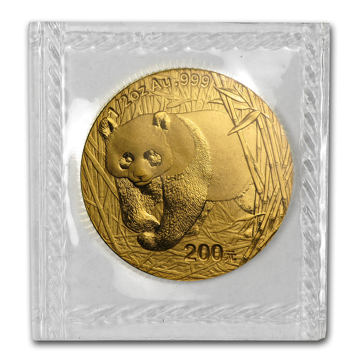 2001 (1/2 oz) Gold Chinese Pandas - (Sealed)