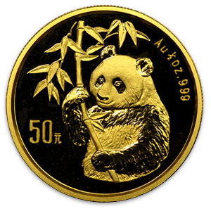 1995 China 1/2 oz Gold Panda Small Date BU (Sealed)
