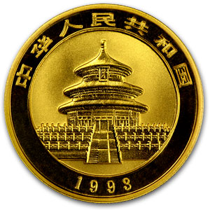 1993 1/2 oz Gold Chinese Panda Large Date BU (Sealed)