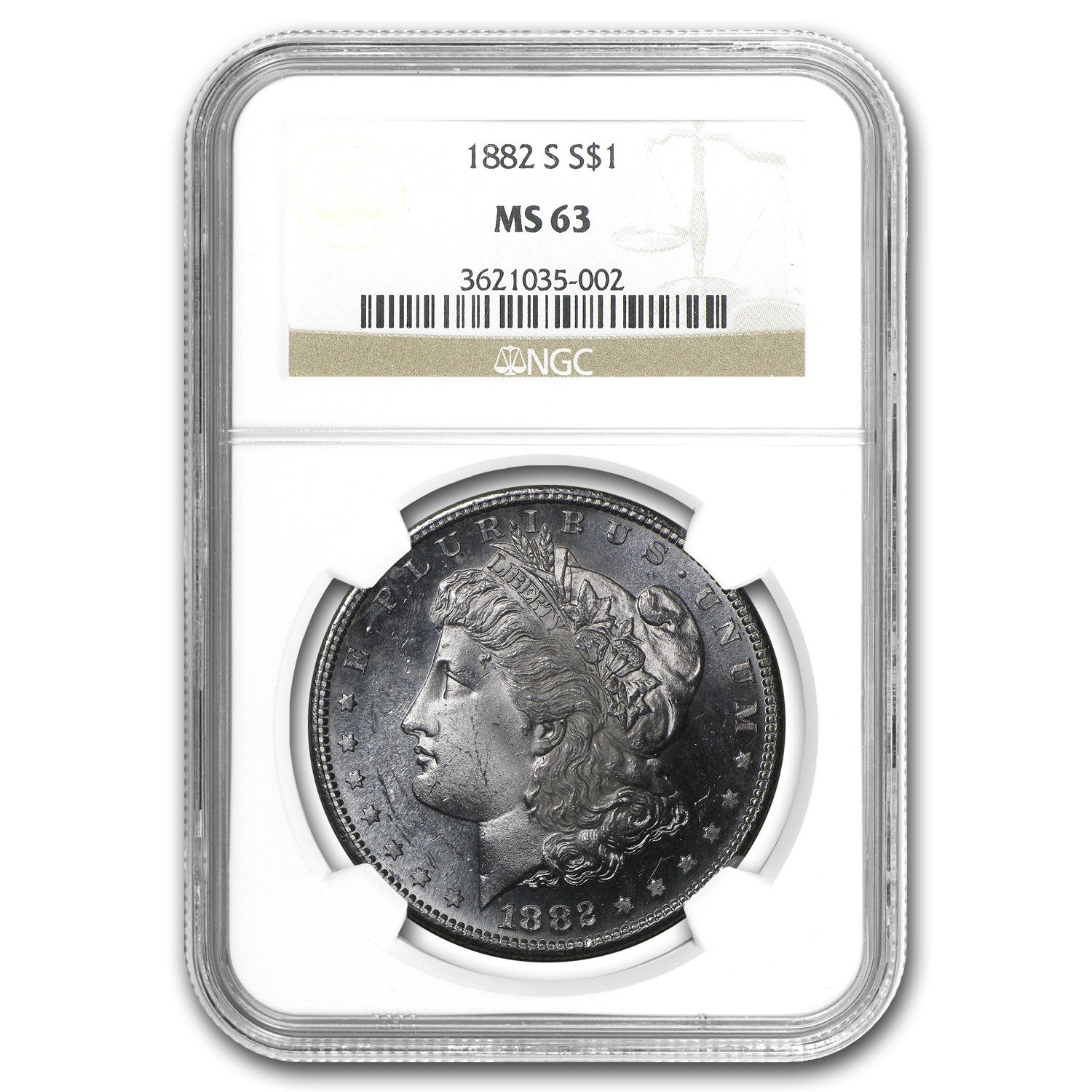 1882-S Morgan Dollar MS-63 NGC