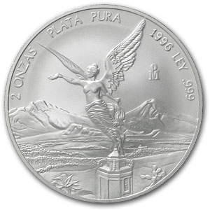 1996 2 oz Silver Mexican Libertad (Brilliant Uncirculated)