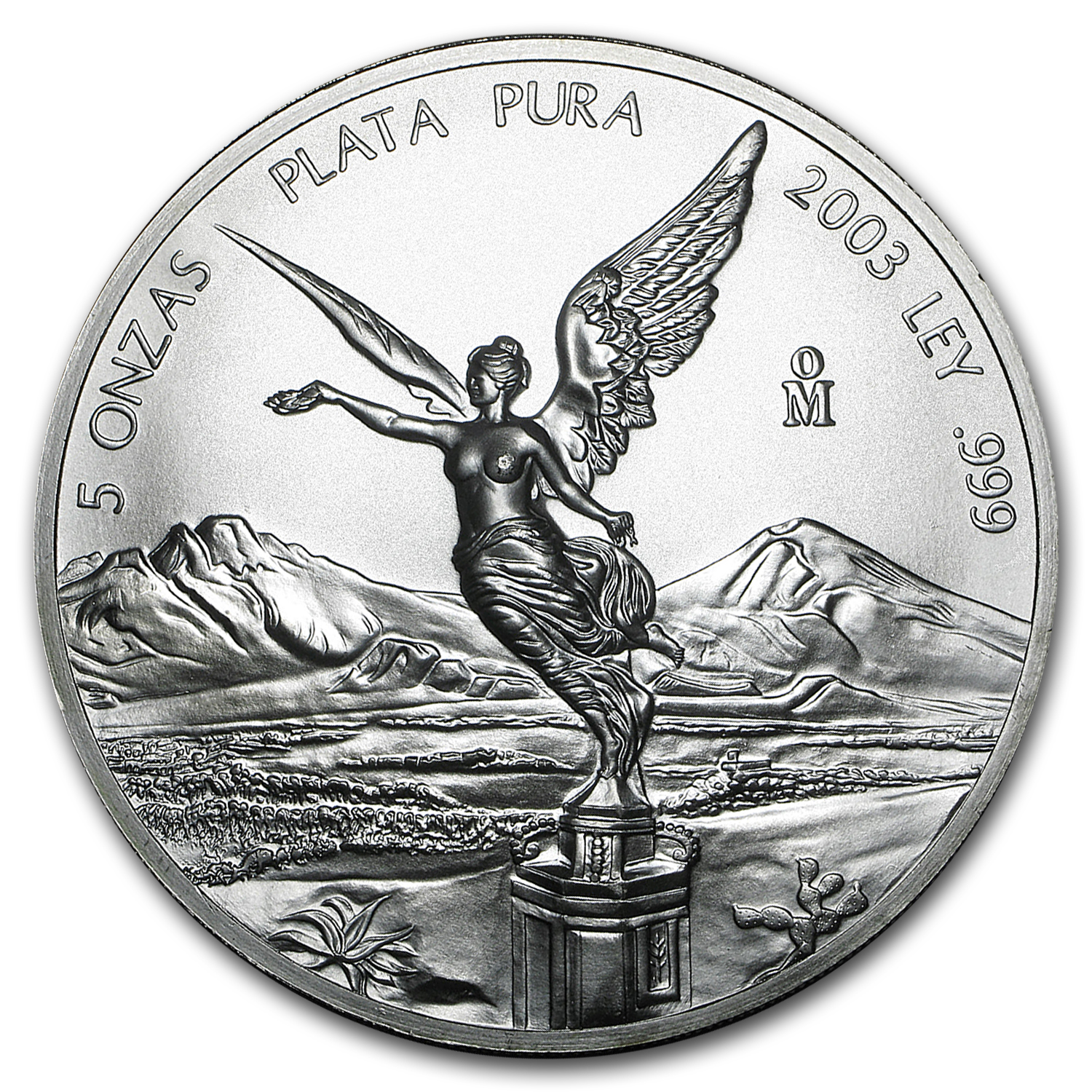 2003 5 oz Silver Mexican Libertad (Brilliant Uncirculated)