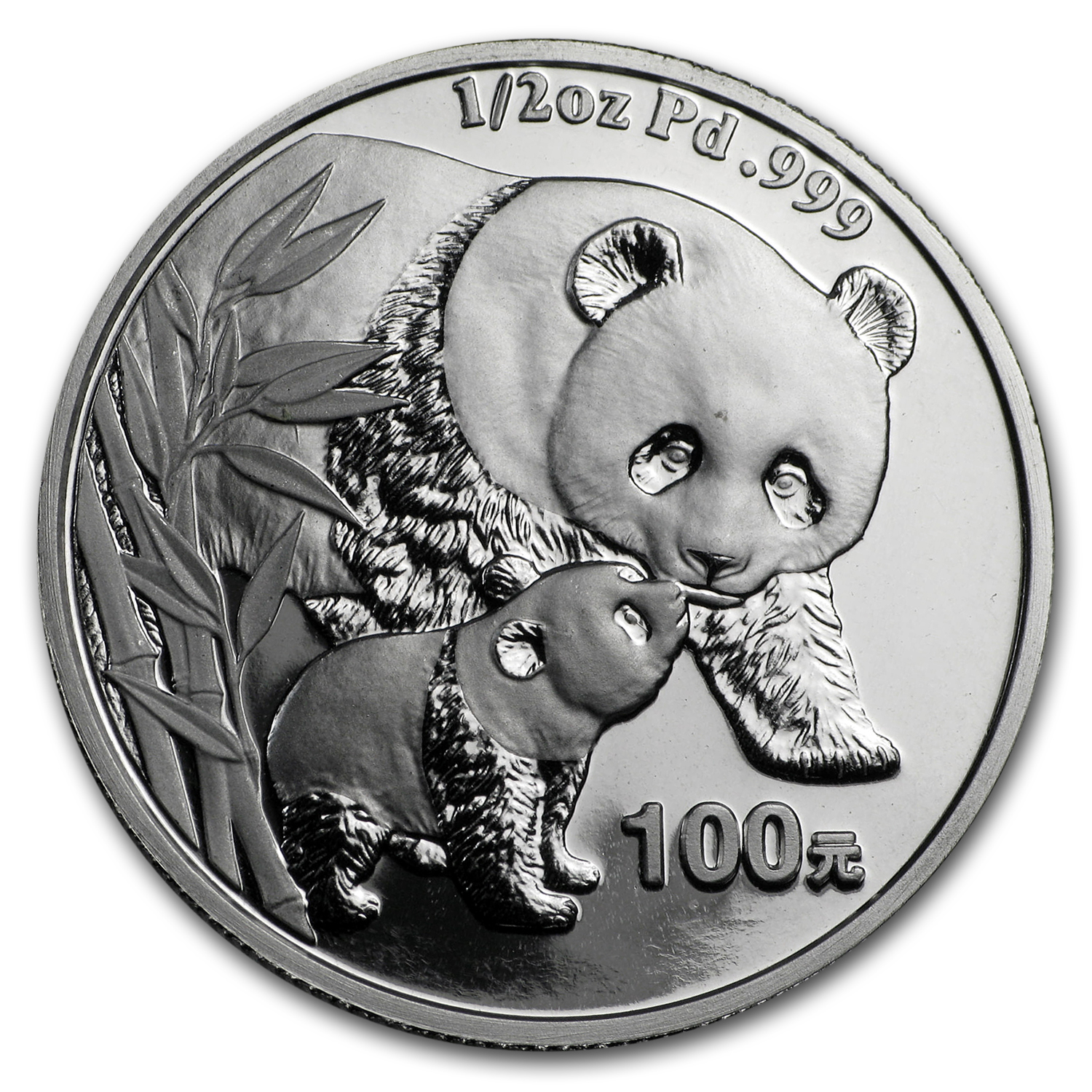 2004 China 1/2 oz Proof Palladium Panda (w/Box & COA)
