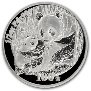 2005 China 1/2 oz Proof Palladium Panda (w/Box & COA)
