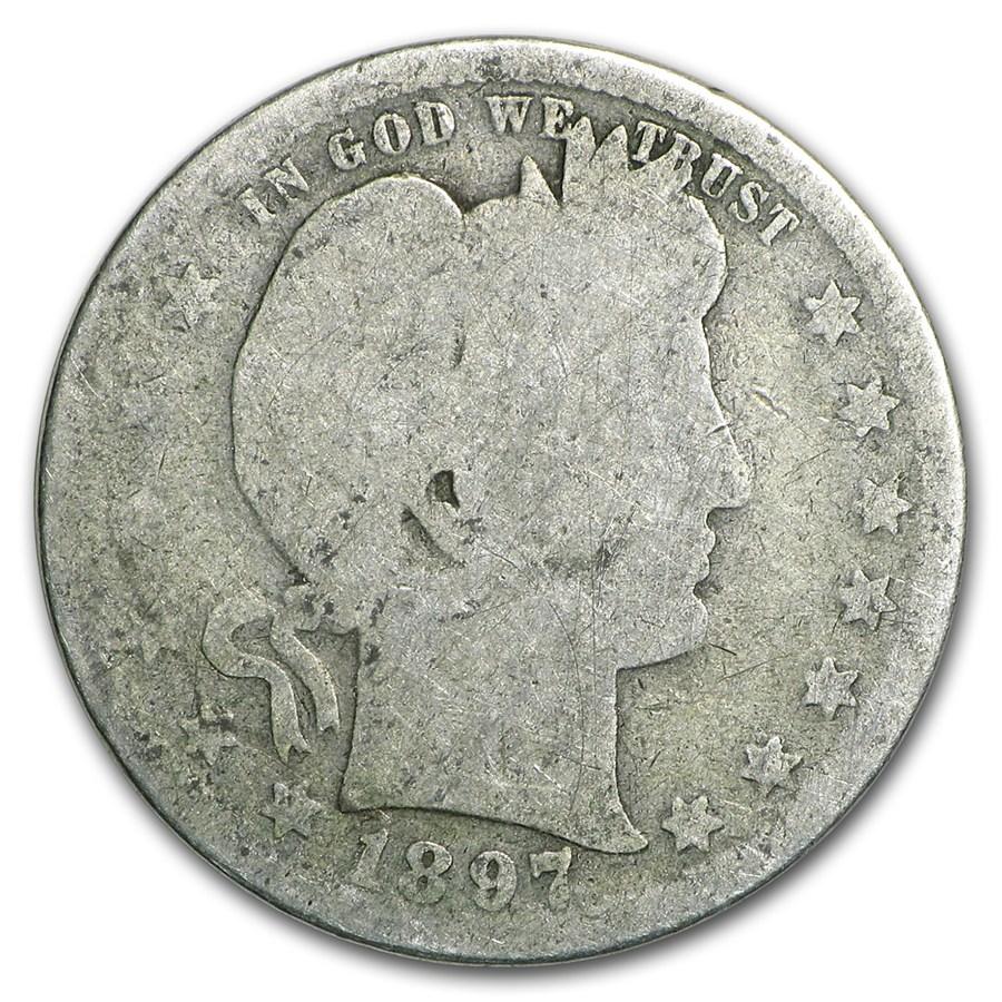 1897-S Barber Quarter AG - Value of Silver